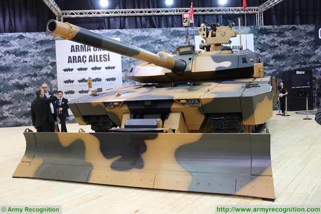 ALTAY Urban Operations Tank (ALTAY-AHT) was developed by Otokar on the ALTAY Main Battle Tank (ALTAY MBT) Hull and Turret platform.