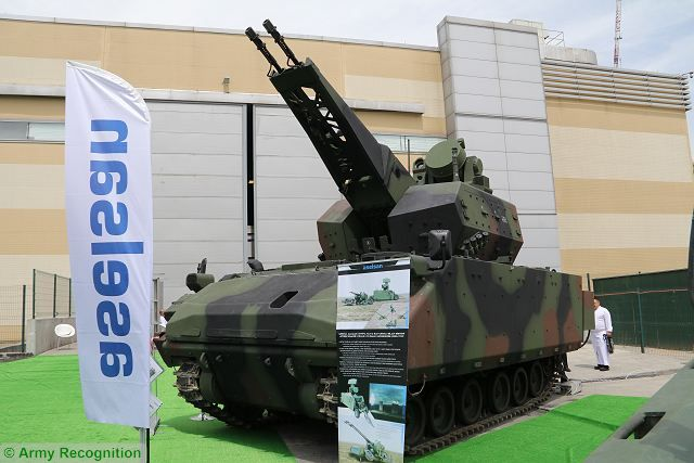 At IDEF 2017, defense exhibition in Istanbul, the Turkish army shows the 35mm Self Propelled Air Defense Gun System part of the Korkut short-range air defense system. Currently the Turkish army has received two Air Defense Gun System and one command post vehicle.