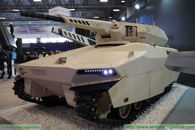 At IDEF 2017, the International Defense Exhibition in Turkey, Aselsan one of the biggest producer of military equipment in Turkey unveils new generation of armored Infantry Fighting Vehicle (IFV) called Khoran fitted with an unmanned weapon station armed with a 35mm automatic cannon.