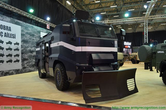 OTOKAR ISV Internal Security Vehicle at IDEF 2017, International Defense Exhibition in Istanbul, Turkey