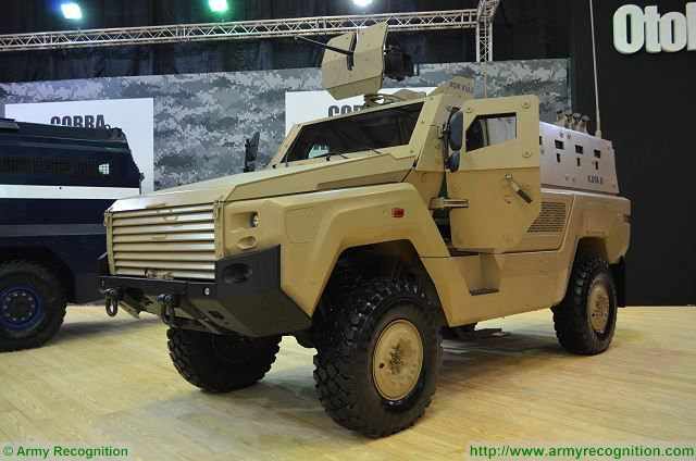 Kaya II MRAP vehicle at IDEF 2017, International Defense Exhibition in Istanbul, Turkey