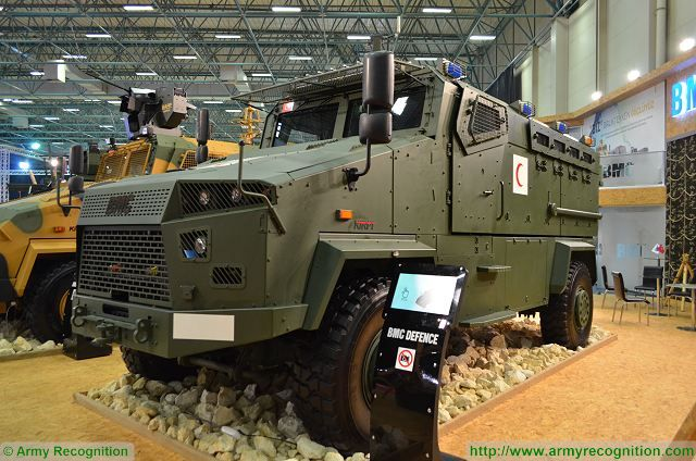 At IDEF 2017, BMC also presents a Kirpi 4x4 MRAP in ambulance configuration. The vehicle is configured to transport emergency medical teams in and out of dangerous areas, safely and securely.