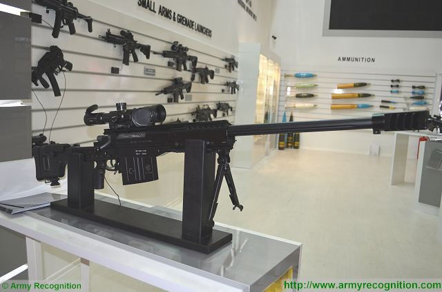 The Turkish Defense Company MKE unveils its new 12.7mm sniper rifle at IDEF 2017, the International Defense Exhibition which was held in Istanbul, Turkey from 9 to 12 May 2017. The MAM15 is especially designed to be used as anti-materiel rifle.