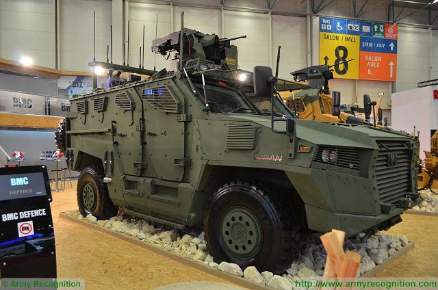 The Vuran is 4x4 armoured tactical vehicle designed and manufactured by the Company BMC, its was unveiled in May 2015 during the defense exhibition IDEF.