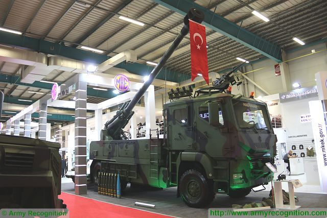 Turkey is on the process to select a wheeled self-propelled howitzer to increase mobility of the artillery units of the Turkish armed forces. To meet this need, the Turkish Company MKE has developed the Yavuz, a 155mm wheeled self-propelled howitzer that was unveiled at IDEF 2017, the International Defense Exhibition in Istanbul, Turkey.