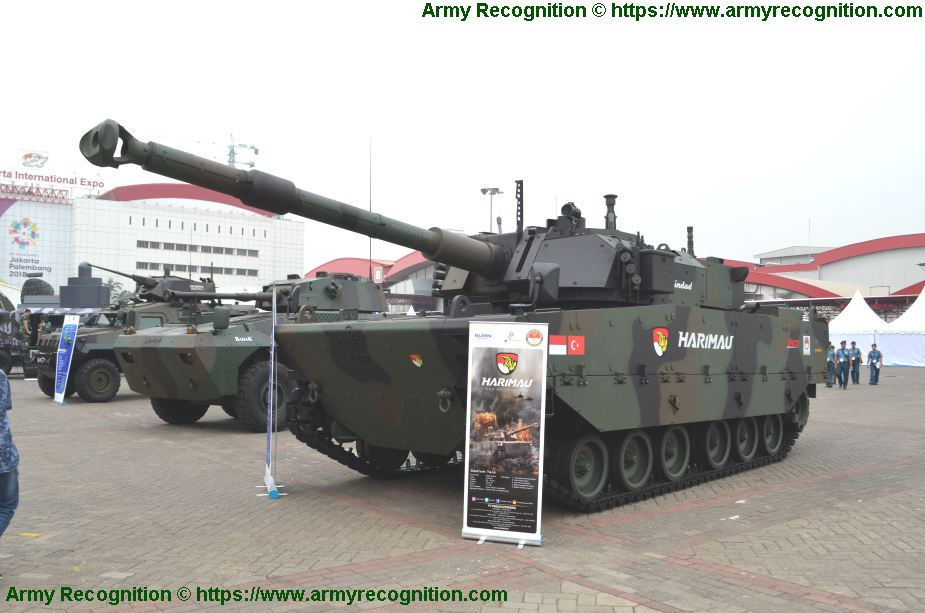 FNSS and PT Pindad serial production for Kaplan MT Harimau medium tank IDEF 2019 925 001