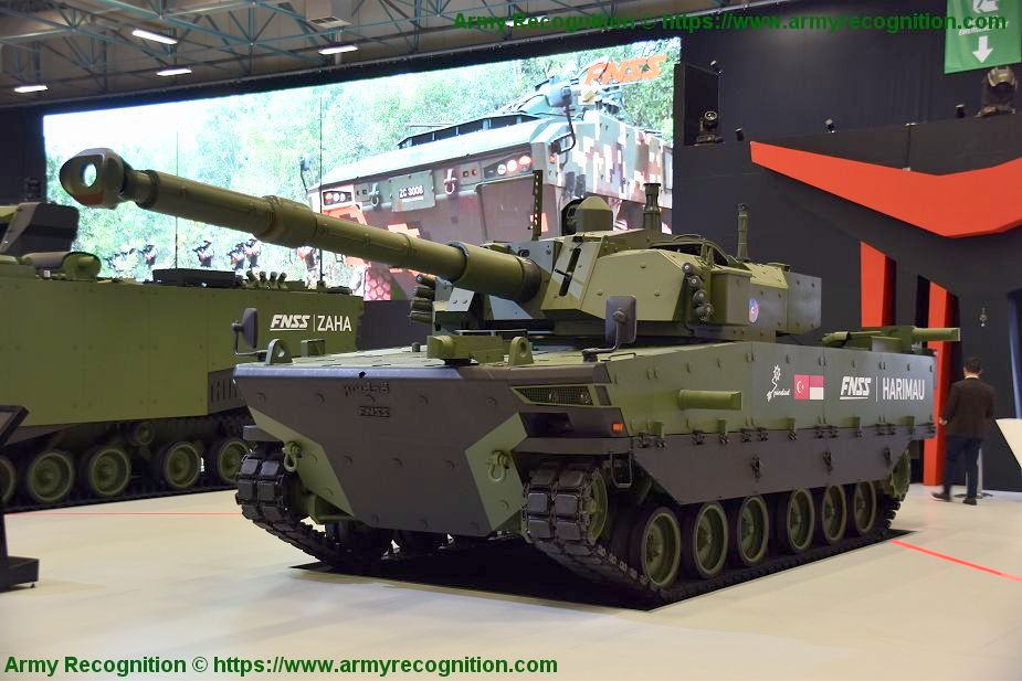 FNSS displays for the first time Kaplan medium tank fitted with PULAT APS IDEF 2019 925 001 2