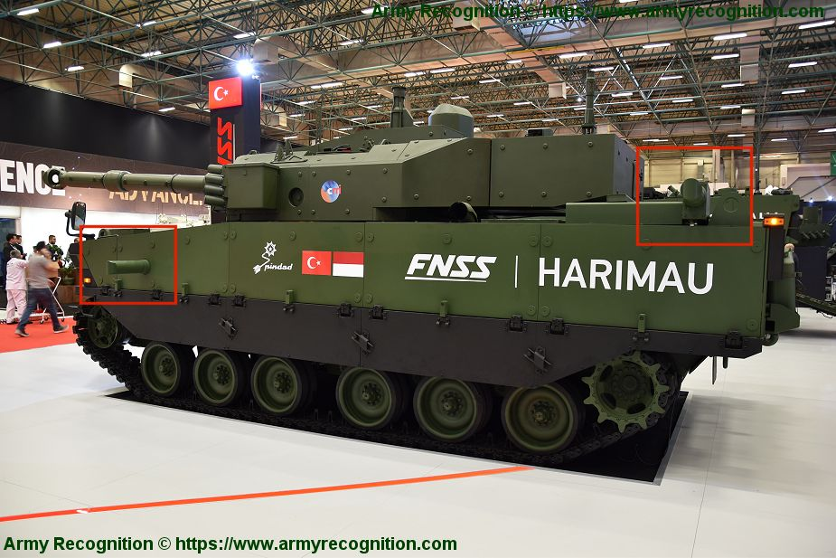 FNSS displays for the first time Kaplan medium tank fitted with PULAT APS IDEF 2019 925 002