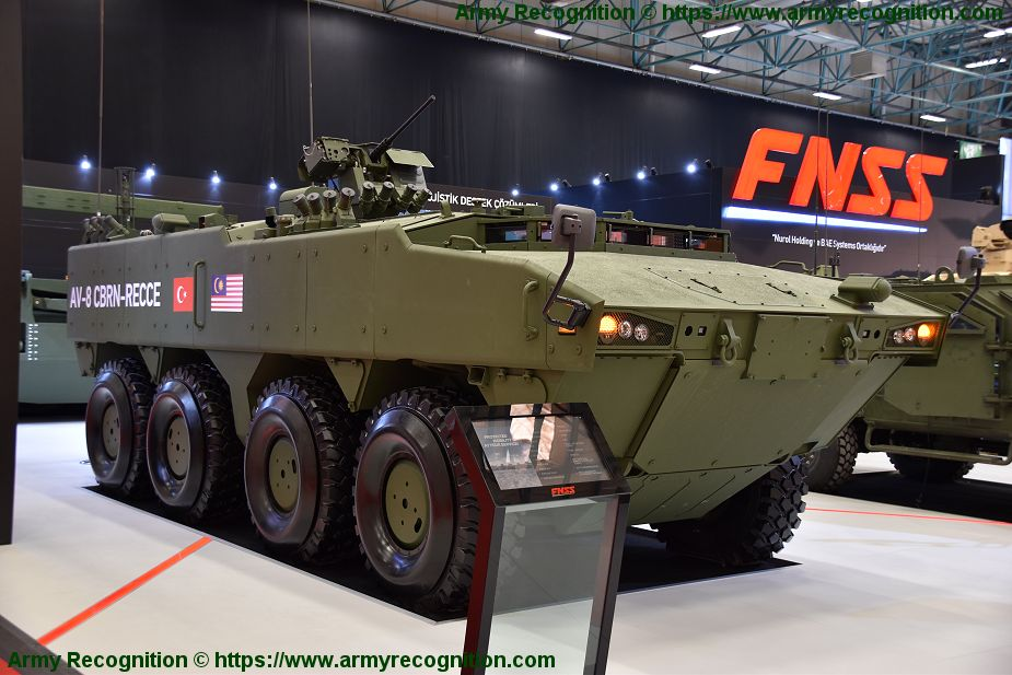 FNSS will deliver NRBC AV8 armored vehicle to Malaysian army IDEF 2019 925 001