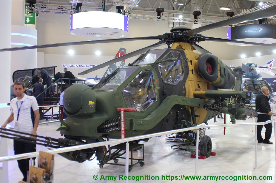 IDEF 2019 Turkish aerospace showcases the T129 Atak Multirole Combat Helicopter