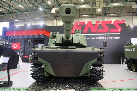 Kaplan MT Medium Tank FNSS PT Pindad Indonesia Indonesian army Turley defense industry front view 001