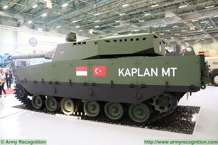 Kaplan MT Medium Tank FNSS PT Pindad Indonesia Indonesian army Turley defense industry left side view 001