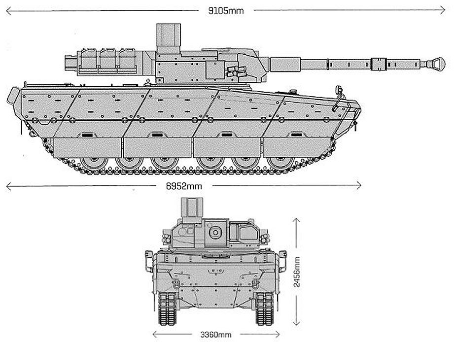 MMWT Modern Medium Weight Tank CT CV 105mm turret CMI Defence FNSS PT Pindad Turkey Turkish defense industry line drawing blueprint 925 001