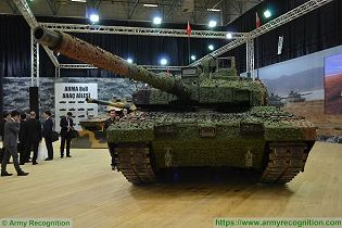 Altay main battle tank Otokar Turkey Turkish defence industry military technology front side view 003