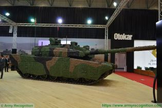 Altay main battle tank Otokar Turkey Turkish defence industry military technology right side view 003