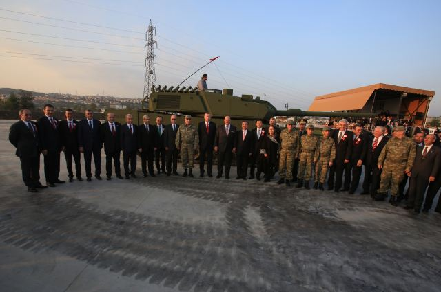 "The first prototypes of Turkey's first main battle tank ALTAY which is designed and developed by OTOKAR, the biggest privately owned company of the Turkish Defence Industry, has been presented at OTOKAR facilities in Sakarya on November 15th. Held with the participation of Prime Minister Recep Tayyip ERDOGAN, the ""ALTAY FIRST PROTOTYPE"" ceremony was hosted by Mustafa V. Koc, Chairman of Koc Holding. General Necdet OZEL, Chief of General Staff; Ismet YILMAZ, Minister of Defence; General Hayri KIVRIKOGLU, Commander of the Turkish Land Forces; Murad BAYAR, Defence Industry Undersecretary; Kudret ONEN, Head of Koc Holding Defence Industry Group and Chairman of the Board of OTOKAR; Halil UNVER, Vice Chairman of OTOKAR and Serdar GORGUC, OTOKAR General Manager attended the ceremony."