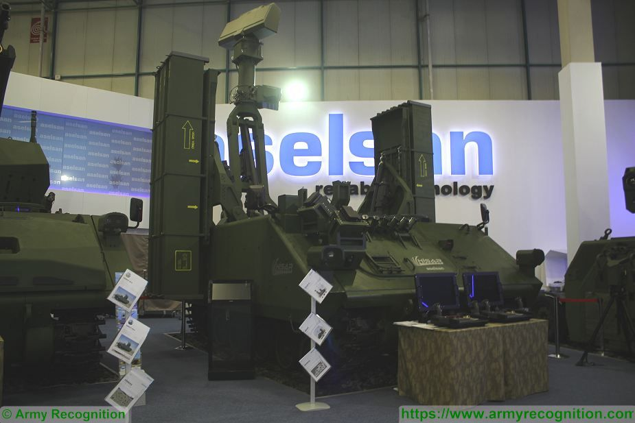 HISAR A short range surface to air defense missile system on ACV 30 tracked armoured vehicle Turkey defense industry 925 001