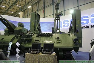 HISAR A short range surface to air defense missile system on ACV 30 tracked armoured vehicle Turkey defense industry front view 001