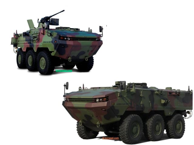 ARMA 6x6 Otokar wheeled armoured vehicle vehicle technical data sheet specifications description information intelligence identification pictures photos images video Turkey Turkish army vehicle defence industry military technology