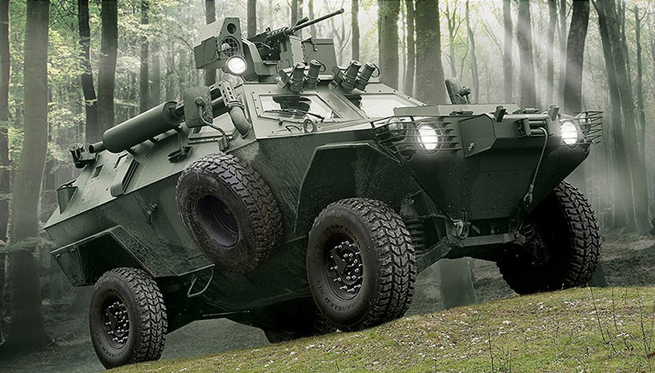 Cobra 4x4 Otokar wheeled armored personnel carrier vehicle