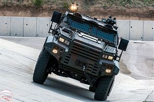 Ejder Yalcin 4x4 tactical wheeled armoured combat vehicle Nurol Makina Turley Turkish defense front view 001