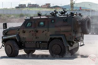 Ejder Yalcin 4x4 tactical wheeled armoured combat vehicle Nurol Makina Turley Turkish defense left side view 001