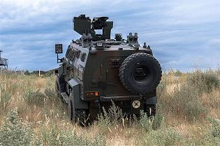 Ejder Yalcin 4x4 tactical wheeled armoured combat vehicle Nurol Makina Turley Turkish defense rear view 001