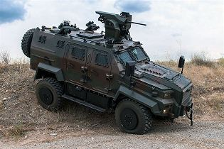 Ejder Yalcin 4x4 tactical wheeled armoured combat vehicle Nurol Makina Turley Turkish defense right side view 001