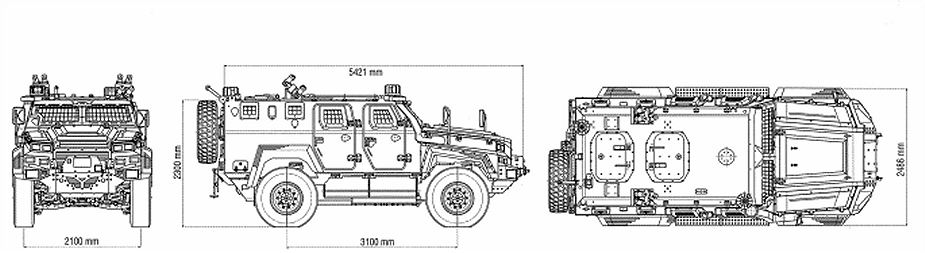 Ejder Yalcin 4x4 tactical wheeled armoured combat vehicle Nurol Makina line drawing blueprint 925 001