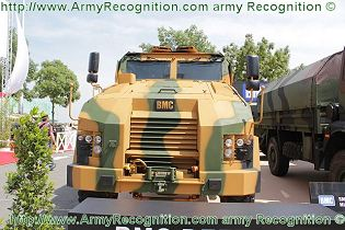 Kirpi BMC 350 MRAP armoured vehicle personnel carrier data sheet specifications description information intelligence identification pictures photos images Turkey Turkish mine resistant ambush protected vehicle