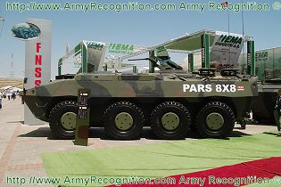 PARS 8x8 combat armored vehicle FNSS technical data sheet specifications description information intelligence identification pictures photos images video Turkey Turkish army vehicle defence industry military technology