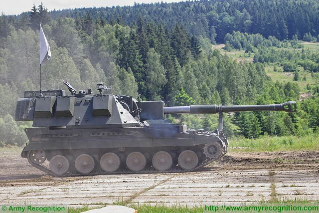 AS90 Braveheart 155mm self-propelled howitzer tracked