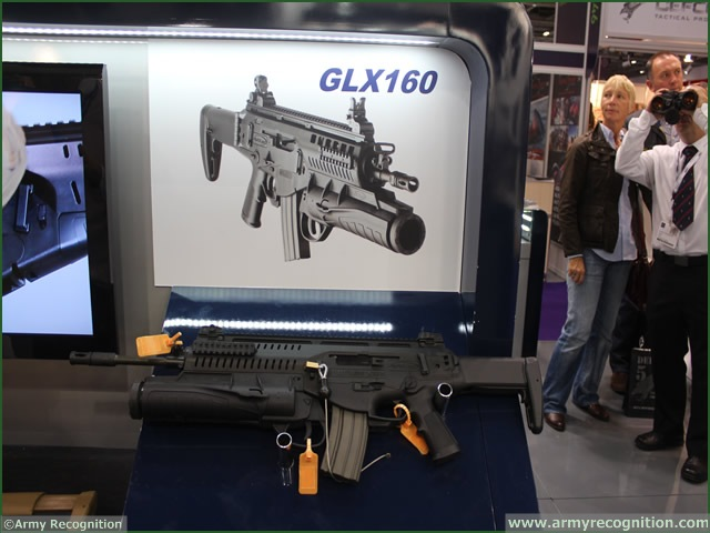 United Kingdom, London. At DSEI 2013, Beretta has developed the next generation of small arms with the ARX160 and GLX 160 (Grenade Launcher) are closely integrated and developed in conjunction with the Future Soldier programme of the Italian Army to cater to all requirements of the modern soldier.