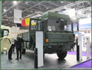 United Kingdom, London. At DSEI 2013, Rheinmetall showcases its HX 4x4 heavy duty truck. The systems of the HX family, made by Rheinmetall MAN Military Vehicles (RMMV), rank among the most cost effective in their class.