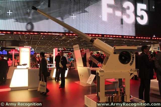CTA International is an equal-shares joint venture company between defence companies Nexter and BAE Systems that has been established to develop and manufacture new medium-calibre cannon for use with armoured and reconnaissance vehicles. One of the product of CTAI is the CTAS 40mm automatic cannon which is presented at DSEI 2013 on BAE Systems booth.