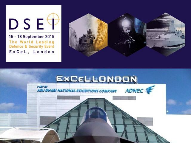 Army Recognition is proud to announce its selection as Official Media Partner and will provide full coverage of the event with Online Show Daily News and Web TV for DSEI 2015, the Defence and Security Equipment International exhibition which will be held from the 15 - 18 September 2015 in London, United Kingdom.