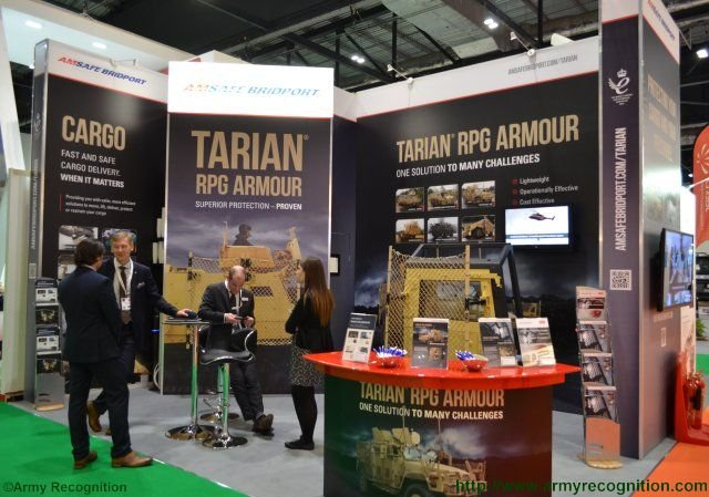 DSEI 2015 AmSafe Bridport to offer Tarian RPG armour system on NIMR s range o military vehicle 640 001