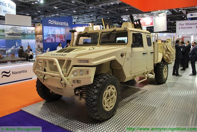 Expal of Spain presents a new version of the EIMOS 81 Integrated Mortar System for light vehicle 640 001