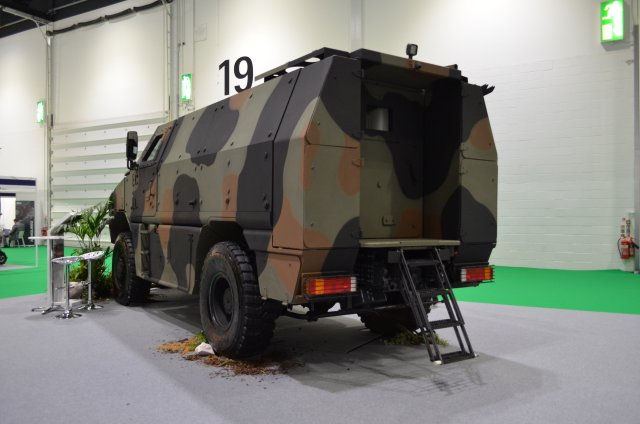 The MPV range is based on the Trakker MOTS truck chassis with a protected crew cell and is already in service with a number of European defence forces, including the UK, German and Swiss armies.