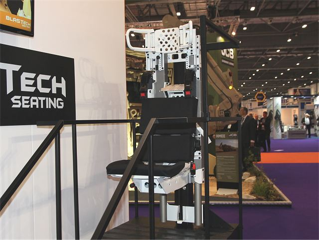 Jankel, the UK's leading provider of protection solutions, was excited to showcase its latest development in its BLASTech Seating line up; the Scout turret seat, part of the Lockheed Martin UK Scout SV Turret Programme at this year's DSEI.