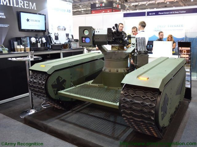 Milrem unveils the first hybrid unmanned tracked vehicle at DSEI the UGV Type 1 640 001