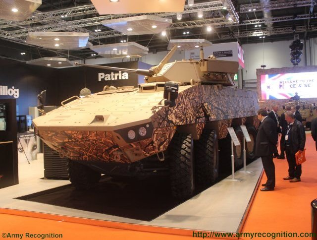 Patria introduces its new AMVXP Infantry Fighting Vehicle in London 640 001