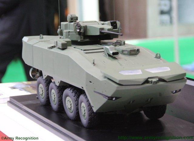 ST Kinetics new Terrex 2 8x8 wheeled armoured vehicle makes its public debut at DSEI 2015 640 002