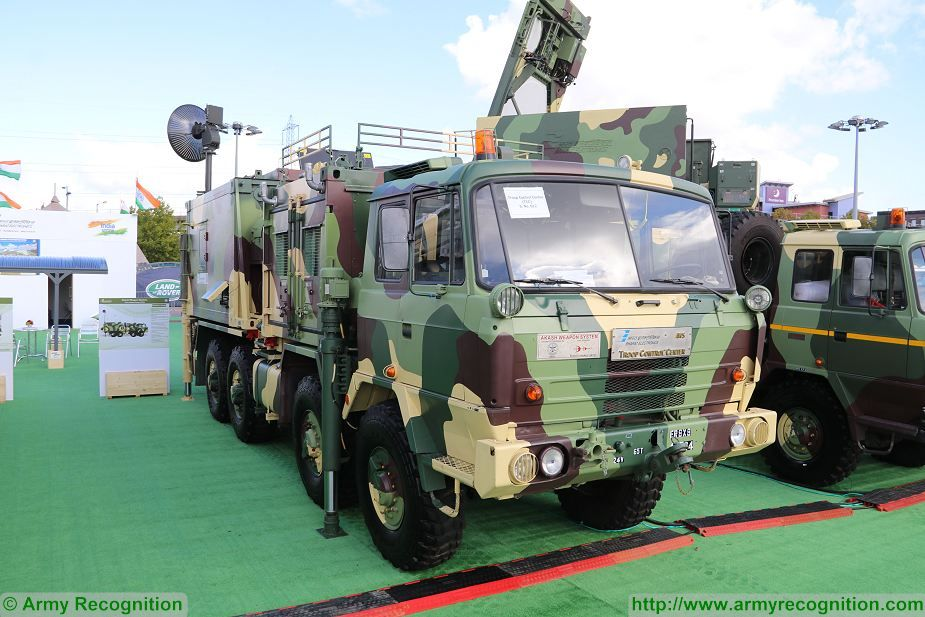 Akash FCC Fire Control Center on 8x8 Tatra truck DSEI 2017 defense security exhibition London UK 925 001