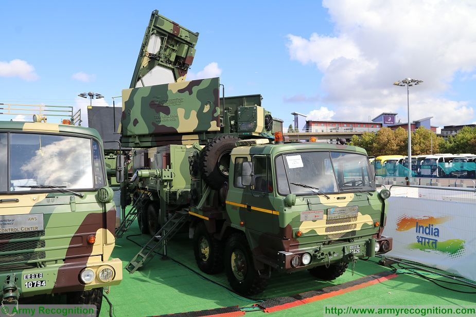 Akash MGR Missile Guidance Radar on 8x8 Tatra truck DSEI 2017 defense security exhibition London UK 925 001