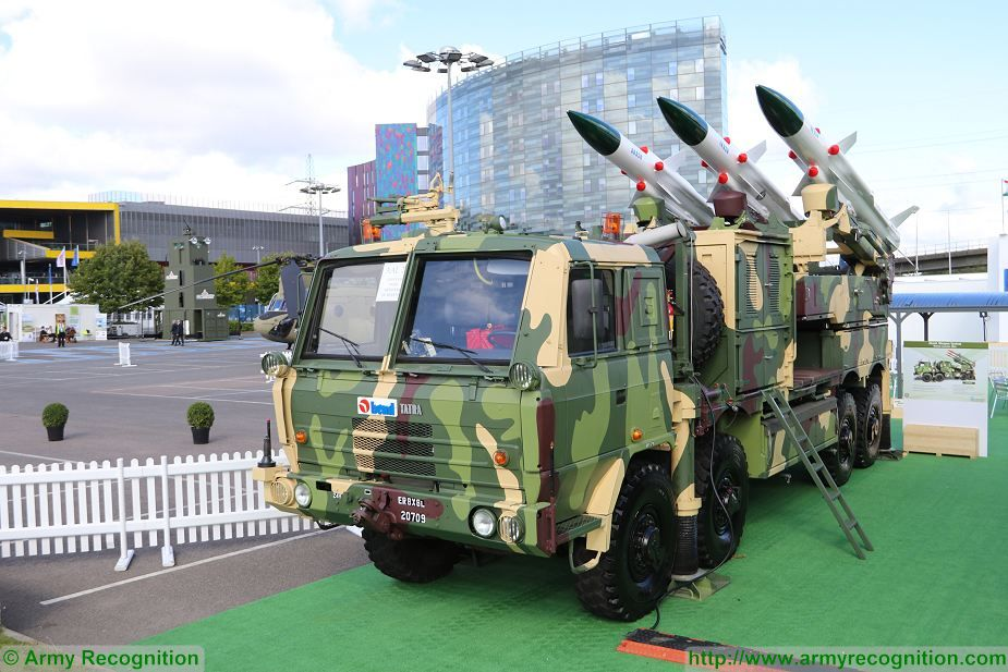 Akash ML Missile Launcher vehicle on 8x8 Tatra truck DSEI 2017 defense security exhibition London UK 925 001