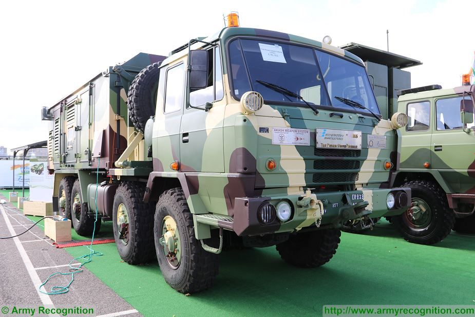 Akash TPSV TLR Power Supply Vehicle 8x8 truck Tatra India DSEI 2017 defense security exhibition London UK 925 001