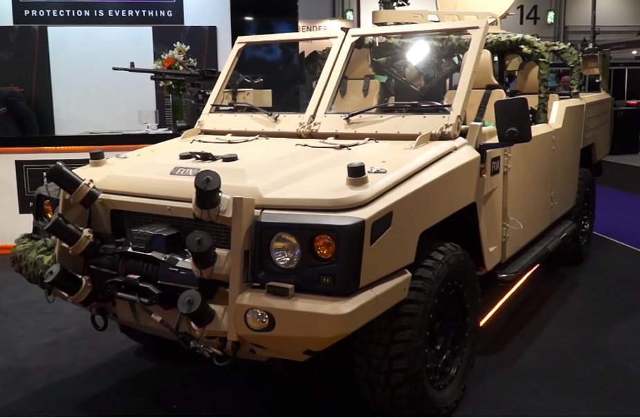 Jankel unveils its new Fox RRV x light tactical vehicle at DSEI 2017 925 001