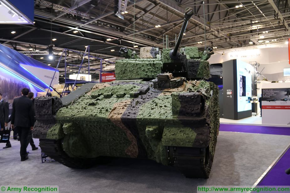 Lockheed Martin WCSP programme to upgrade Warrior IFV DSEI 2017 defense security exhibition London UK 925 001