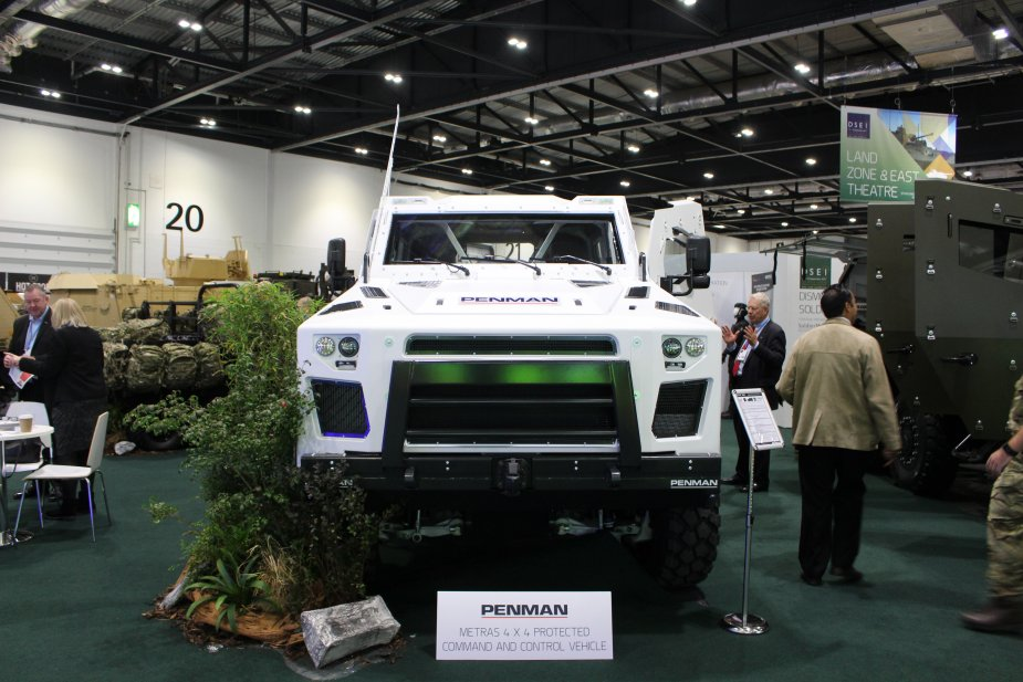 Penman unveils a range of new multirole vehicles at DSEI 2017 925 002